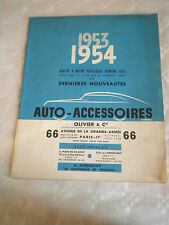 Vintage Catalogue 1953/4 Olivier et Cie car parts and accessories french