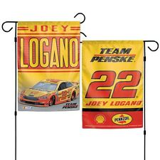 Joey Logano Wincraft 2017 #22 Pennzoil/Shell Double Sided 12x18 Garden Flag FREE