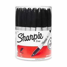 Sharpie Permanent Markers Fine Point Black 36 Pack Black (Canister)