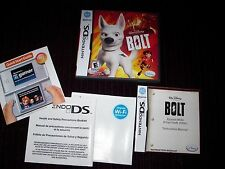 BOLT NINTENDO DS GAME CASE AND MANUAL. GAME COMPLETE