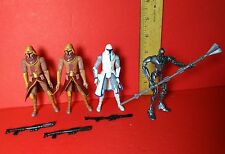 """Star Wars Animated Clone Trooper 3.75"""" Lot Flamethrower Cold Weather Magnaguard"""