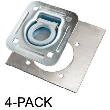 D-Ring Recessed 6,000 lb. Tiedown with Backing Plate Tie Downs - 4 Pack