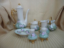 BAVARIA VINTAGE Hand Painted   7 PC CHOCOLATE / TEA SET,