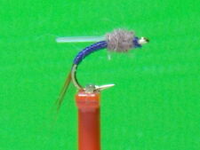 Johnny Flash  Midge Emerger Fly (sz.24 Purple with Flash Wing) HOT PATTERN