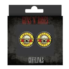 NEW - GUNS and ROSES LOGO ENAMEL CUFFLINKS in PRESENTATION BOX
