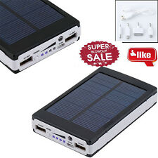 80000mAh Dual USB Portable Solar Battery Charger Power Bank For Phone Black US
