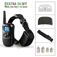 300 Yard LCD 100LV Level Shock Vibra Remote Pet Dog Training Collar Waterproof