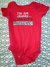 Faded Glory Boys 12 M Red Onsie (I'm Not Chubby...its all Muscle!)