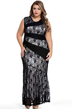 Lace Formal Evening Party Prom Bridesmaids Wedding Gown Dress Plus Size 1X 2X 3X