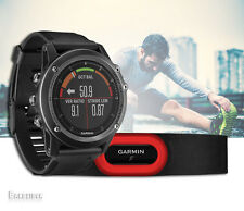 New Garmin Fenix 3 HR Gray Performer Bundle Men HRM-Run Sports GPS Watch Running