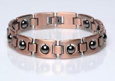 NEW COPPER MAGNETIC LINK HEMATITE STONE BRACELET mens womens STYLE#LHM jewelry