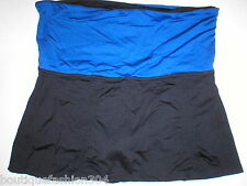 Womens Lucy Running Skirt Skort Shorts XL Black Blue Roll down Waist Fold Pocket
