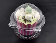 10Pcs Clear Plastic Cupcake Cake Case Muffin Pod Dome Holder Box Container YECL