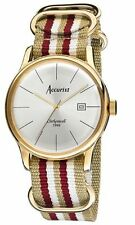 Accurist  MS433S Mens Vintage Clerkenwell Strap Watch Authorised UK Stockist