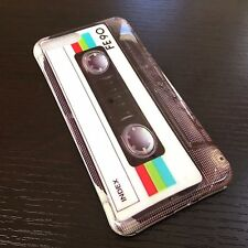 For iPhone 7+ Plus -HARD TPU RUBBER GEL SLIM CASE COVER OLD SCHOOL CASSETTE TAPE