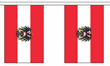 AUSTRIA WITH CREST BUNTING 9 metres 30 flags Polyester flag AUSTRIAN