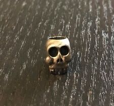 RARE TAD Gear Rocket World IWG Sterling Silver Skull Bead