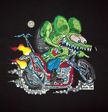 """X LARGE FULLY LICENSED ED """"BIG DADDY"""" ROTH RAT FINK CHOPPER HOT ROD BACK PATCH"""