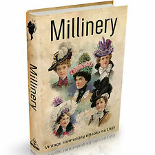 Millinery Books on DVD Hat Making Hatter Design Art Crafts Patterns Fashion