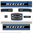 Mercury 1972 115hp Outboard Decal Kit -Discontinued Decal Reproductions in Stock
