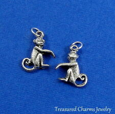 Silver Cute MONKEY Zoo Animal CHARM PENDANT *NEW*