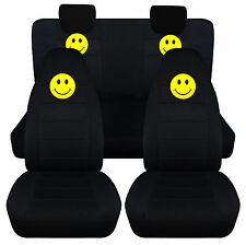 COOL SMILEY CAR SEAT COVERS FRONT+BACK 2009-2014 SUZUKI ALTO,Airbags Friendly