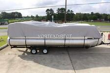 NEW VORTEX COMBO PACK GREY 18 FT ULTRA PONTOON/DECK BOAT COVER+SUPPORT SYSTEM