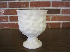 VINTAGE E. O. BRODY CO. CLEVELAND OHIO MILK GLASS PEDESTAL FOOTED PLANTER / VASE