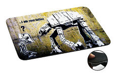 548 Banksy Star War Robot Anti-slip Mousepad Mouse Pad For Macbook PC Laptop-3MM