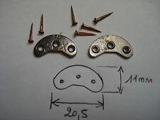 paire de fers à chaussure REX 18 ,  20,5 mm par 11 mm avec semences 10 mm