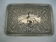 LARGE EDWARDIAN SOLID SILVER DRESSING TABLE TRAY (362g)-  Lee & Wigfull, 1902
