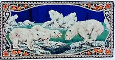Vintage Polar Bear Tapestry Made in Italy Boho Chic Decorative Wall Hanging Rug