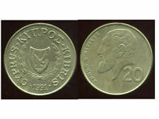 CHYPRE  20 cents 1991