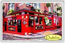 TEMPLE BAR DUBLIN - JUMBO FRIDGE MAGNET - IRELAND EIRE IRISH REPUBLIC ERIN