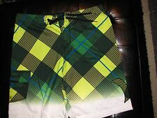 NEW Size 36 HURLEY Swimsuit Board Shorts BLACK GREEN YELLOW WHITE BLUE $54