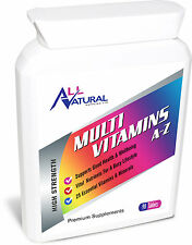 All Natural's A-Z MultiVitamin contains 25 Essential Vitamins & Minerals 90 Pack
