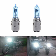 2pcs DC 12V 35W BA20D Motorcycle Headlight Halogen Bulb White Xenon Light