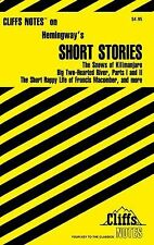 CliffsNotes Hemingway's Short Stories by Cliffs Notes Staff and James L....