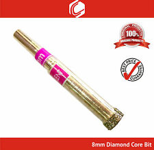 8mm Diamond Coated Core Drill Bit for Glass, Tiles and Marbles