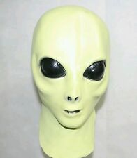 (Glow In The Dark) UFO Alien Mask Creepy Halloween Costume Theater Latex Rubber