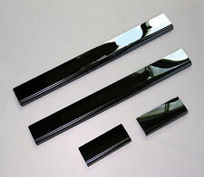 Stainless Steel Logo Black Anodized Door Sill Guards For Dodge Charger 2011-2016