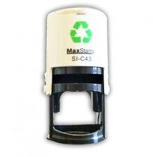 MAXSTAMP C43 Auto-entintado sello De Goma Redonda 41mm diámetro opción de 9 Colores de Tinta