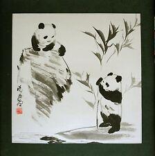Original Ink Panda Painting by Xiao Zhuang