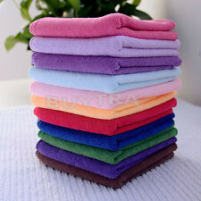 10 Microfibre Cleaning Cloth Towel Car Valeting Polishing Duster Kitchen Wash ST