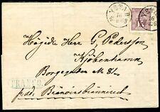 SCHWEDEN 1868 15 schöner BRIEF von YSTAD nach KOPENHAGEN(Z1029