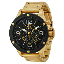 Armani Exchange Chronograph Black Dial Gold-tone Mens Watch AX1511