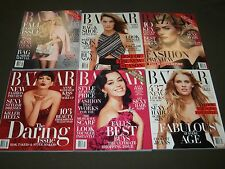 2014 HARPER'S BAZAAR MAGAZINE LOT OF 10 ISSUES - FASHION COVERS + ADS - O 918
