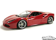 Ferrari 488 GTB BBURAGO Race & Play Diecast 1:24 Scale Red