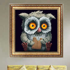 DIY 5D Diamond Embroidery Painting Cartoon Owl Mosaic Cross Stitch Craft Kits
