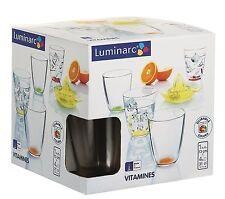 Luminarc Crazy Colours Vitamines 4pc Tumbler Set (31cl) + FREE Citrus Press